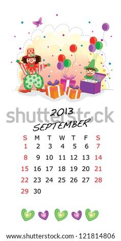 Calendar 2013-September