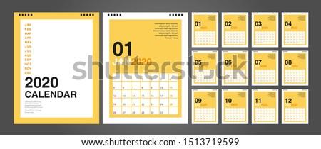 calendar 2020  set desk