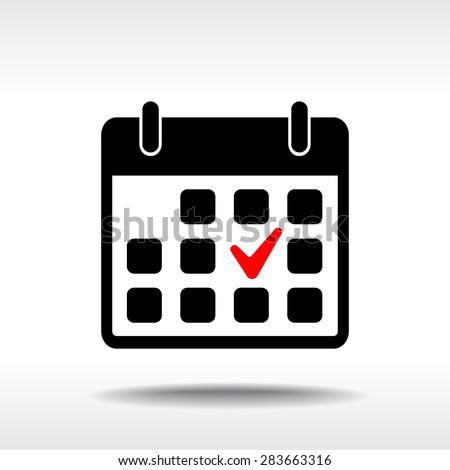 Calendar sign icons, vector illustration. Flat design style