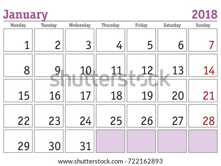 printable 2018 weekly calendar