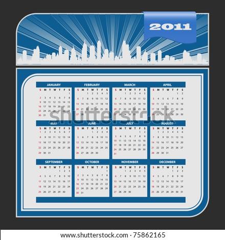 Calendar 2011 template