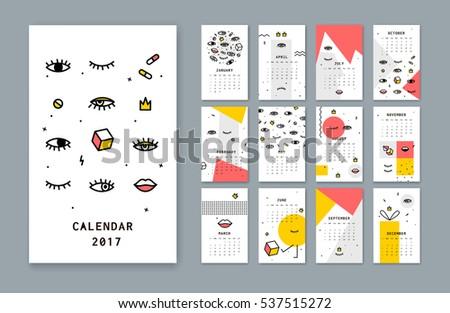 calendar template for 2017