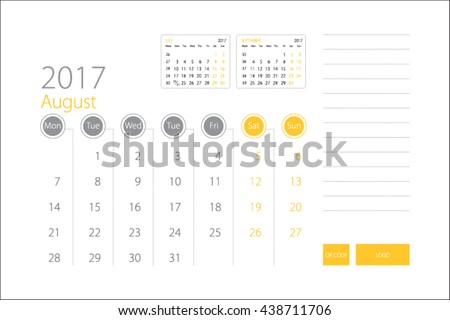 Calendar Template  Download Free Vector Art Stock Graphics  Images