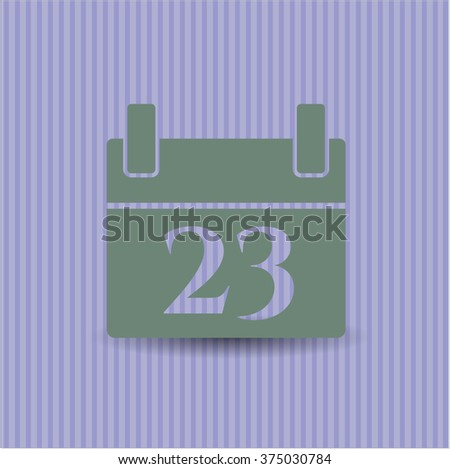 Calendar vector icon or symbol