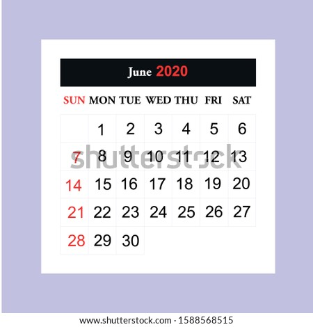 Calendar 2020 vector illustration on eps 10