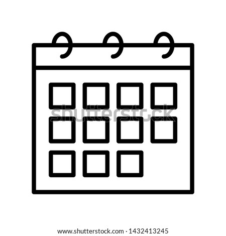Calendar vector, Summer party related line style icon