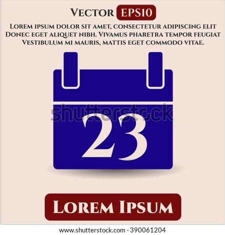 Calendar vector symbol