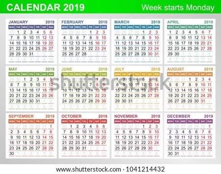 royalty free german calendar 2018 week starts 591975740. Black Bedroom Furniture Sets. Home Design Ideas