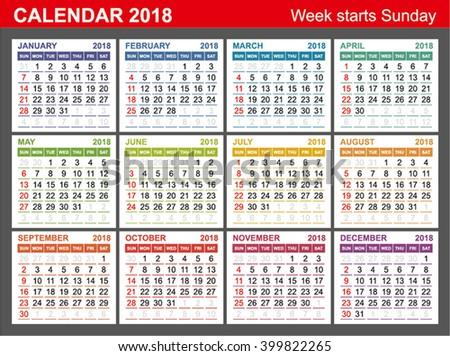 Year 2017 Calendar With Purple Design - Download Free Vector Art ...