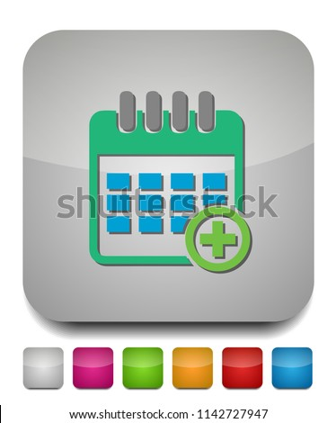 calendar with add sign icon, add date to calendar, calendar symbol
