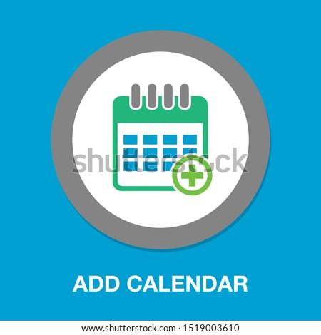 calendar with add sign icon, add date to calendar, calendar symbol