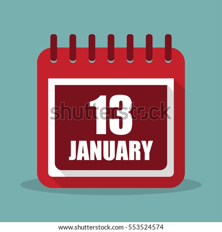 calendar with 13 january in a