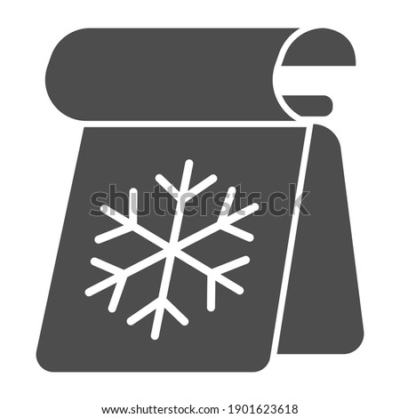 calendar with snowflake solid
