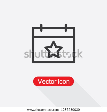 Calendar With Star Icon Vector Illustration Eps10
