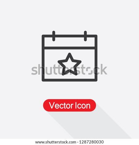 Calendar With Star Icon Vector Illustration Eps10