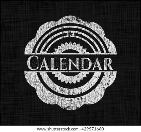 Calendar written on a blackboard