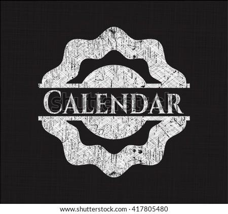 Calendar written with chalkboard texture