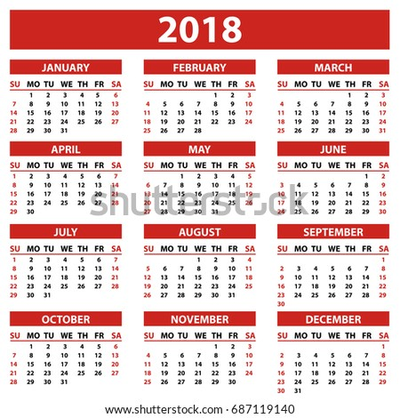 november 2018 monthly calendar download free vector art stock