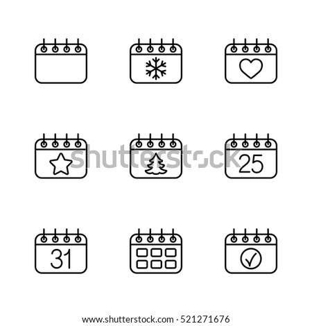 calender date schedule winter
