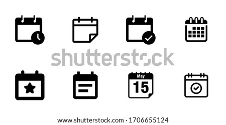 calender icon pack on white background
