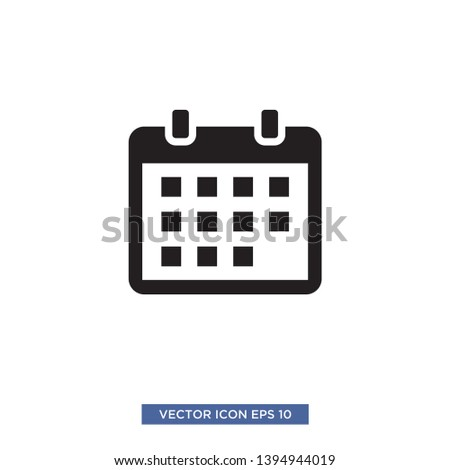 Calender icon vector illustration template