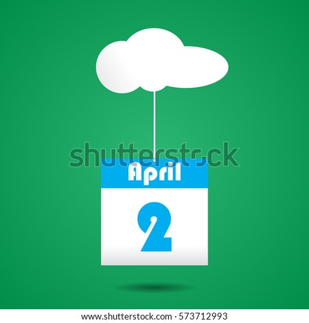 calender icon with cloud april