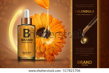 calendula skin toner ads  3d