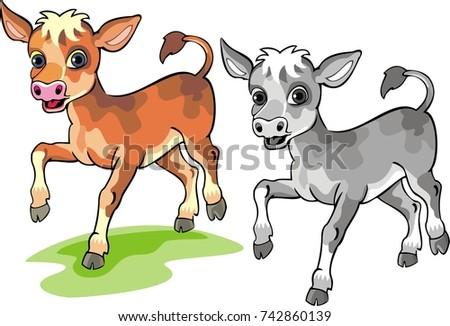 calf   cartoon