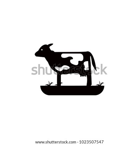 calf icon. Element of farm for mobile concept and web apps. Icon for website design and development, app development. Premium icon on white background
