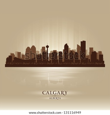 calgary alberta skyline city