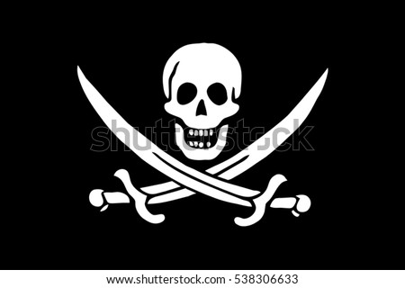 calico jack pirate flag vector