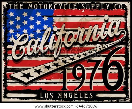 retro design graphic design vintage style california flag download free vector art stock