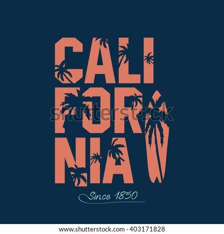 california beach typography
