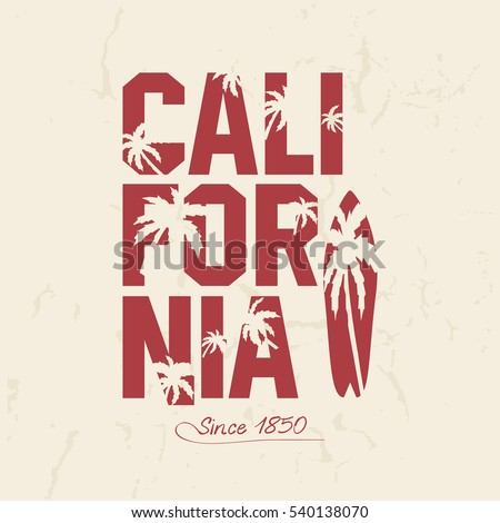 california beach typography