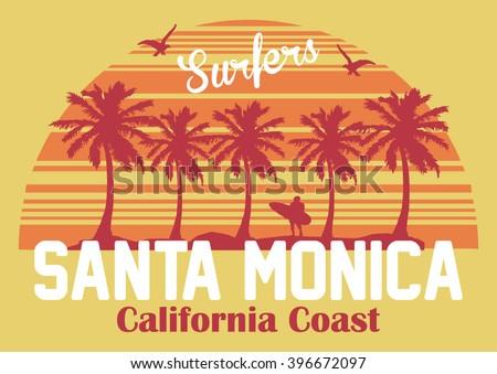 california coast  santa monica...