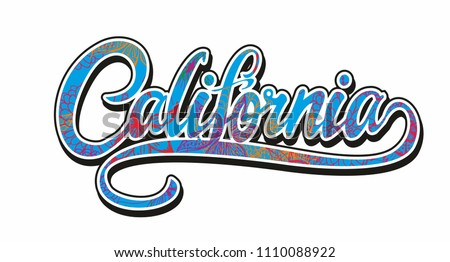 California flower and palm vector art