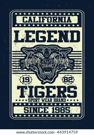 california legend tigers