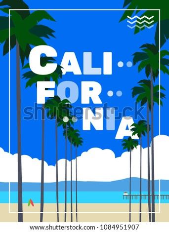 california poster with palm