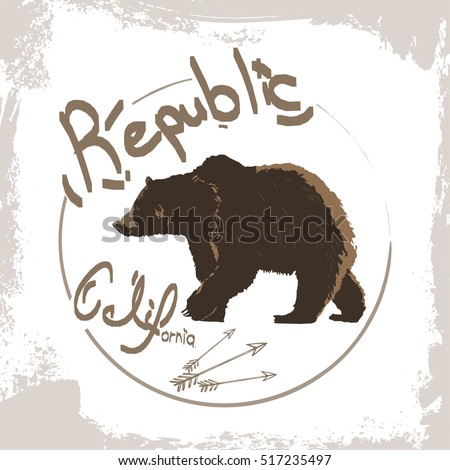 california republic brown bear...
