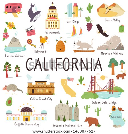 california set of landmarks