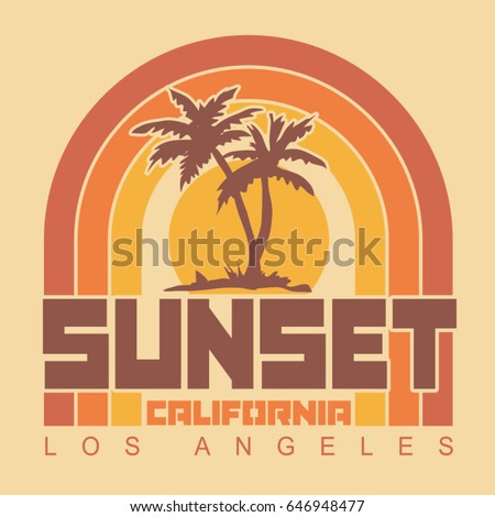 california sunset typography ...
