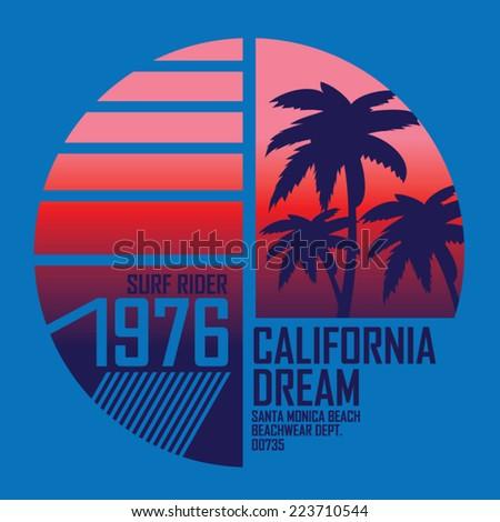 california surf illustration