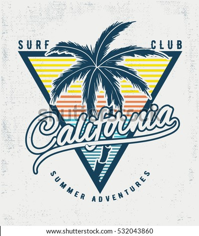california surf typography for
