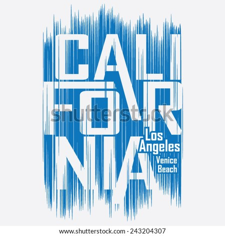 california surf typography  t