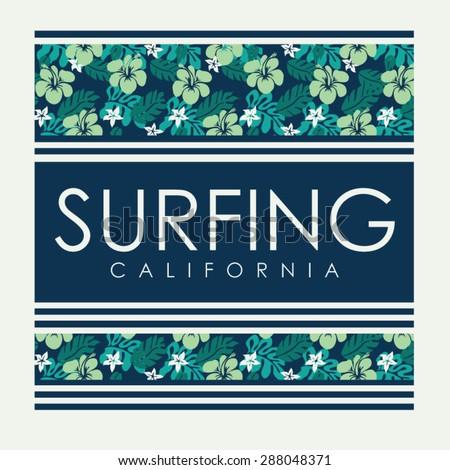 california surf typography  t