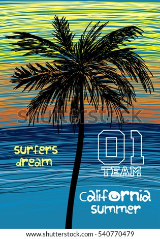 california surfers dream palm t ...