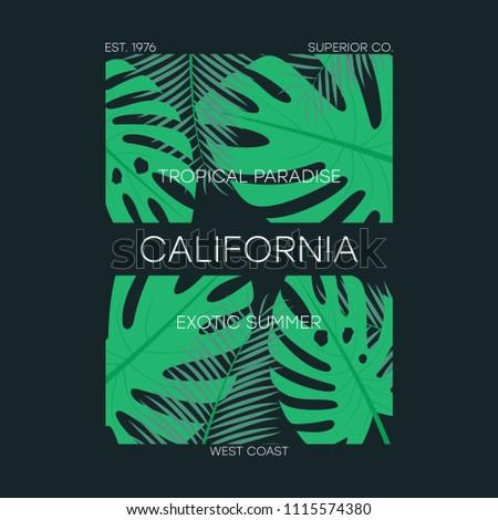 california t shirt typography