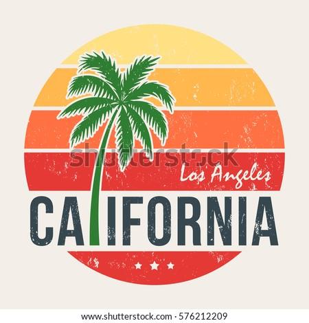 california tee print with