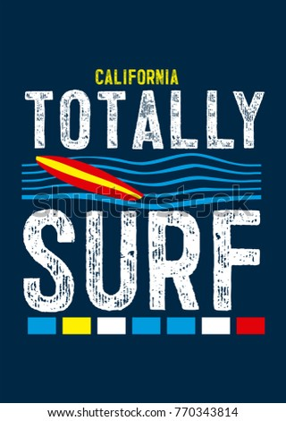 california totally surf t shirt