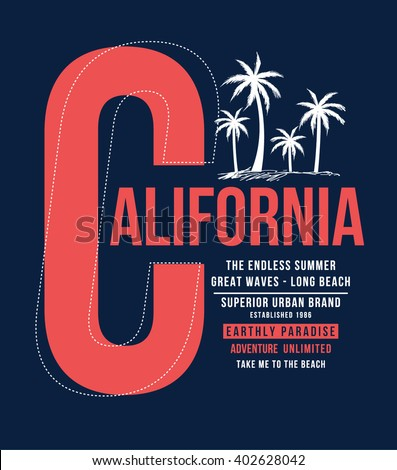 california typography for t